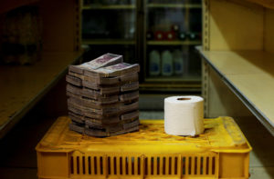 How many Venezuelan Bolivar it takes to buy one roll of toilet paper