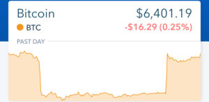 Coinbase Screenshot September 9 2018