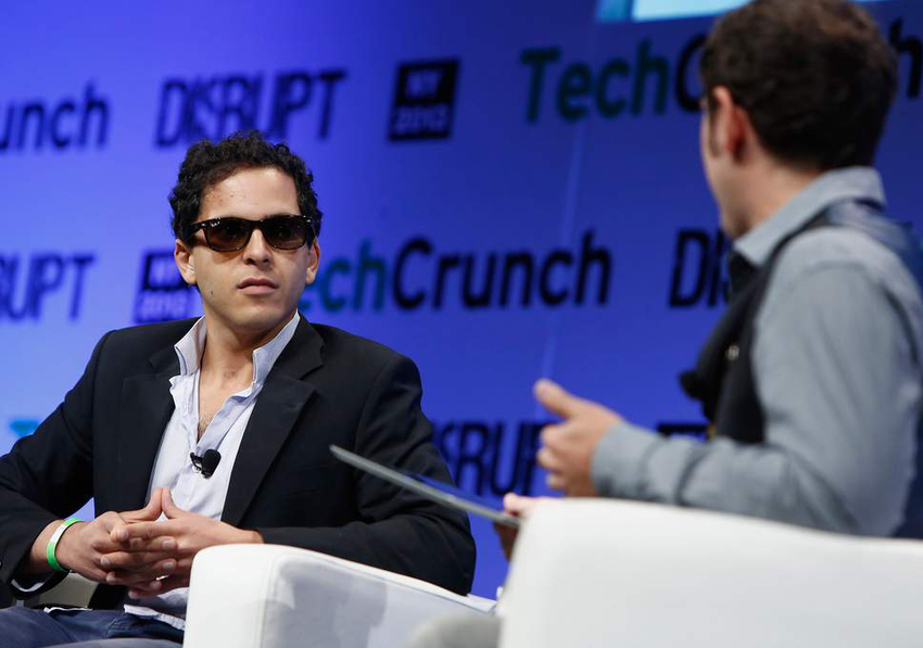 Mahbod moghadam speaking at Tech Crunch Disrupt 2013