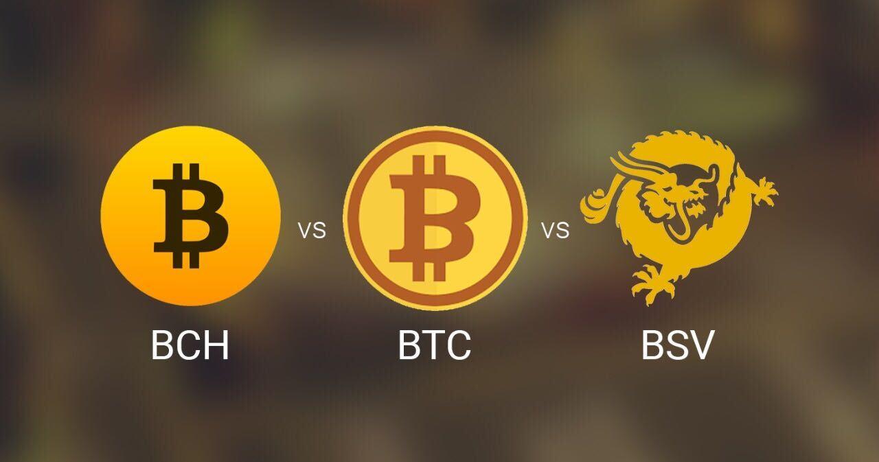 BCH vs. BTC vs. BSV